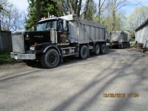 Triaxle dump and pup