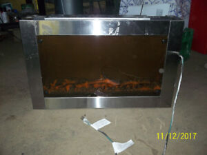 wall insert electric fireplace with remote