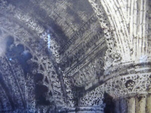 Original Etching of Roslyn Chapel, Edinburgh by Albany Howarth Stratford Kitchener Area image 7