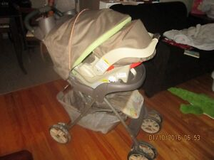 Baby stroller set with infant car seat and base