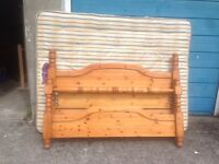 Lovely Pine Super King Double Bed with free mattress