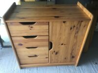 Solid pine wood cupboard