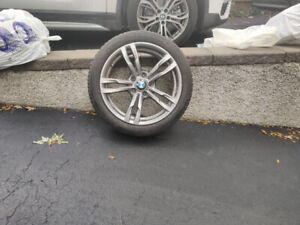 4  X BMW Mag Wheels + 4 X 18 inch Michelin Winter Tires for sale
