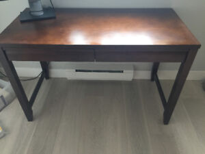 Crate and barrel solid wood study table