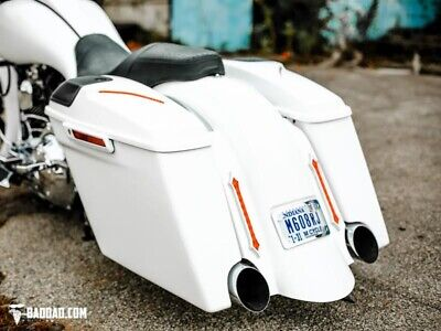Bad Dad 2-1 Exhaust Summit Kit w/ Classic Covers 905 Chrome Taillights 14-Up FL