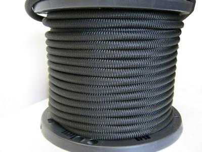"3/8"" 500 ft Bungee Shock Cord Black Marine Grade Heavy Duty Shock Rope Tie Down"