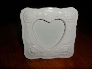 heart picture frame ceramic