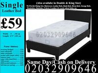 Strong PU Leather Frame Single Bedding Black Brown also have double and king Fort Worth