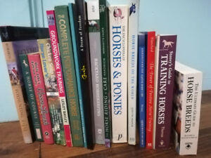 Books, Equine, English horse care and riding books