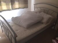 Double bed frame and matress