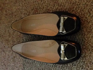 Size 8.5 Nine West Black Women's Flat Dress Shoes Brand New