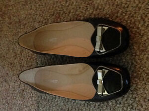 Size 8.5 Nine West Black Women's Flat Dress Shoes Brand New