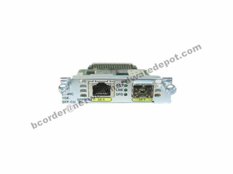 Cisco EHWIC-1GE-SFP-CU 1-Port Dual Mode Gigabit SFP or RJ45 - 1 Year Warranty
