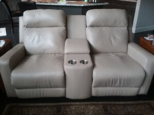 Power Recliner Leather Love Seat