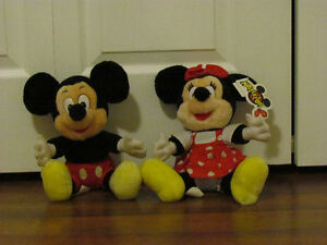 Mickey and Minnie Mouse stuffed animals