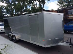 Neo enclosed aluminum trailer