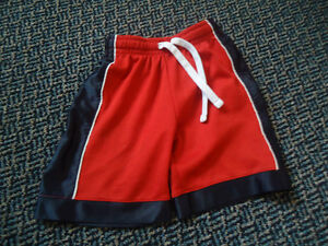 Boys Size 4 Basketball Style Red and Blue Shorts