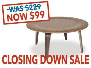 SALE: Replica Eames Round Coffee Tables - Walnut only Osborne Park Stirling Area Preview