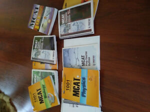 MCAT study guide, prep101 from 2012, and Prep 101 7th edition