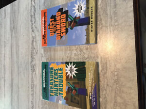 2 minecraft books for sale!