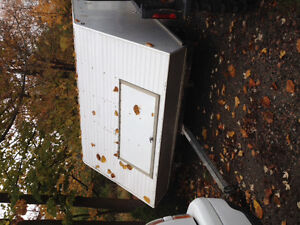 101 by 144 doudle enclosed skidoo trailer single axle