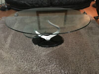 Mint condition, marble and glass coffee table and side tables