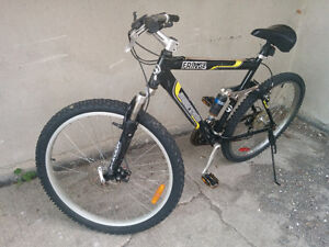 Disk brake, dual suspension mountain bike in excellent cond,