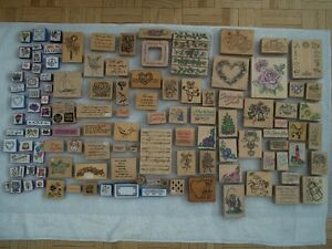125 ink stamp pads...Stampin' Up...Recollections...etc...