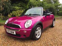 Mini convertible pink