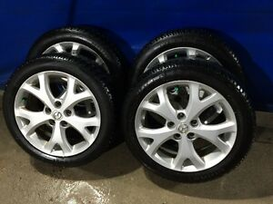 205/50R17 Winter Tires on Mazda 5X114.3 Wheels