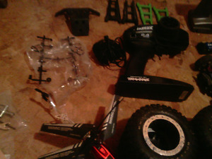 Traxxas raptor and drifter and losi dune truck
