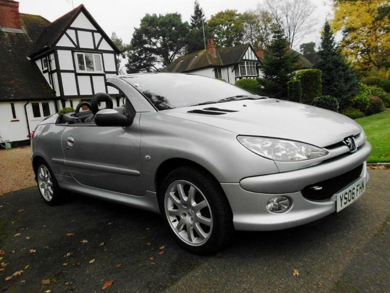 peugeot 206 cc allure convertible coupe with full black leather in shepperton surrey gumtree. Black Bedroom Furniture Sets. Home Design Ideas