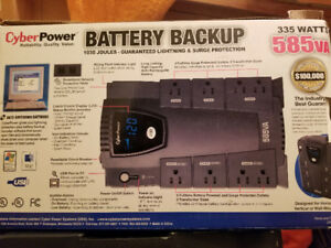USED TWICE | cyber power battery backup  335 watts 585va