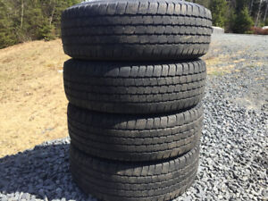Four Michelin P245/75R16 Summer Tires