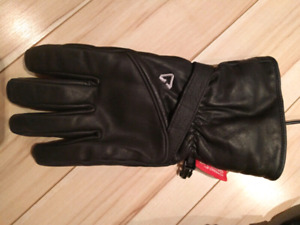Women's heated leather gloves. Size S-M