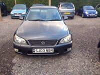 03 Reg LEXUS IS 200