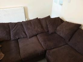 L Shaped Sofa & Armchair / Cuddle Chair