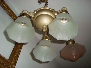 GREAT 1920-30'S HANGING LIGHT FIXTURE