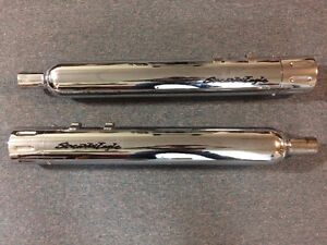 Screaming Eagle Exhaust Pipes c/w Revolver Style End Caps
