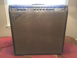 1965 Fender Super Reverb Blackface vintage guitar amplifier