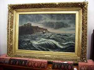 Antique oil painting, depicting a shipwreck Kingston Kingston Area image 1