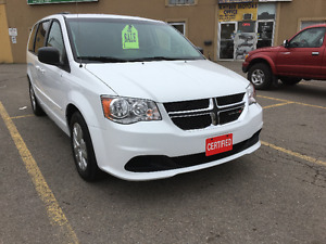 2015 Dodge Caravan 3.6L SE Minivan. Amazing Condition! Certified