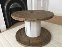 Solid pine cable drum table - £40 **Collection is from Romford, RM1**