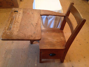 Wooden desk from one room schoolhouse Stratford Kitchener Area image 1