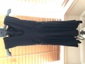 French Connection black dress with side cutout - size 0