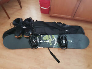 Liquid Snowboard & Oakley Goggles (With Boots, Bindings, And Bag