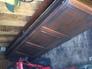 9x7 solid wood garage doir