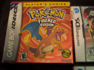NINTENDO DS 3DS GBA POKEMON  GAME COLLECTION