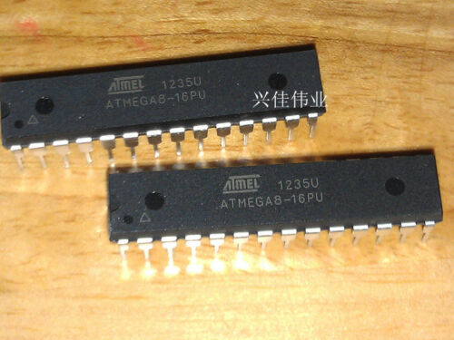 10pcs New Ic Atmel Dip-28 Atmega8-16pu