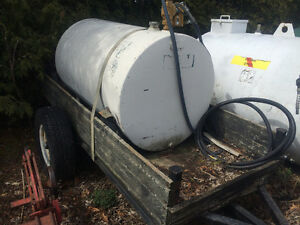 Also hydraulic parts. Portable fuel tank with pump